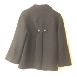 Vintage boiled wool topper swing jacket